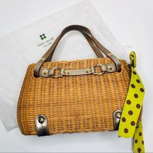 Kate Spade Woven Wicker Basket Bag w/ Dust Bag